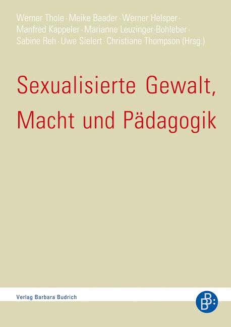 Sexualisierte Gewalt - zahlreiche Publikation im Verlag Barbara Budrich