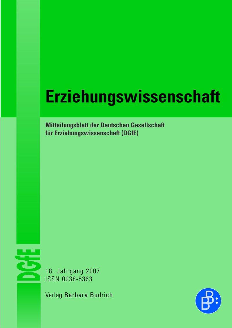 Erziehungswissenschaft 1-2007: Freie Beiträge