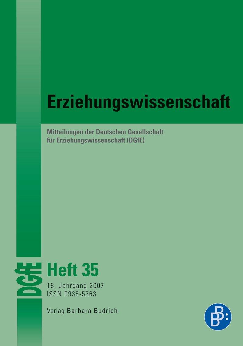 Erziehungswissenschaft 2-2007: Freie Beiträge