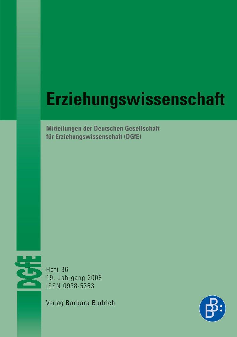 Erziehungswissenschaft 1-2008: Freie Beiträge