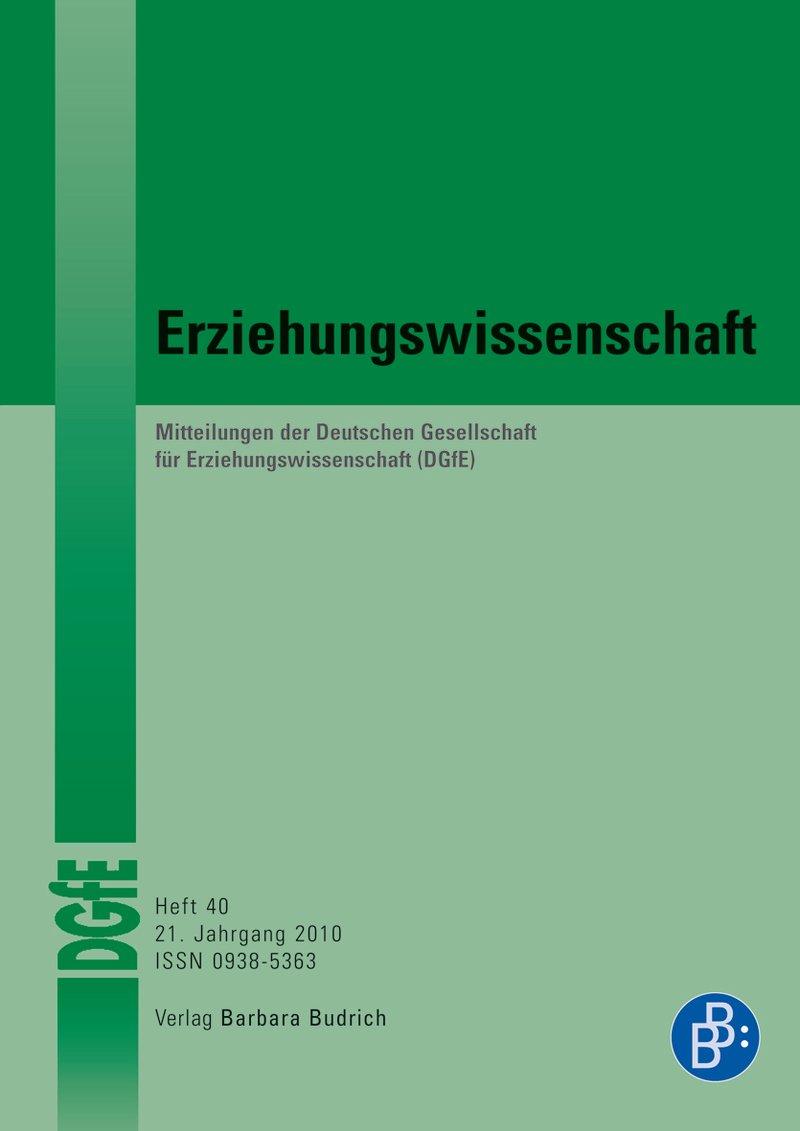 Erziehungswissenschaft 1-2010: Freie Beiträge