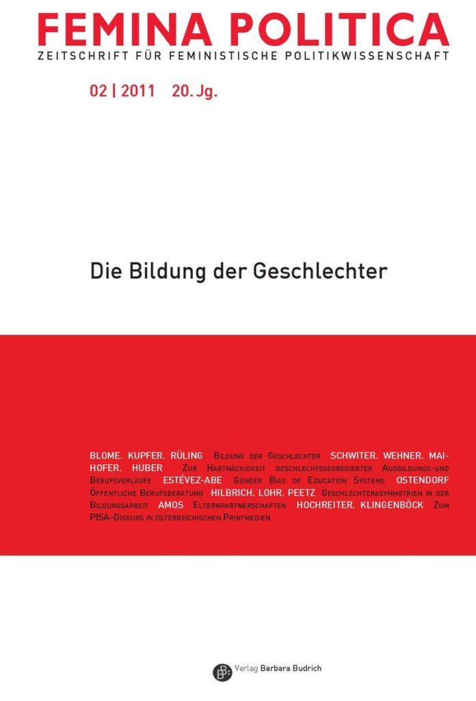 Femina Politica – Zeitschrift für feministische Politikwissenschaft 2-2011: Die Bildung der Geschlechter