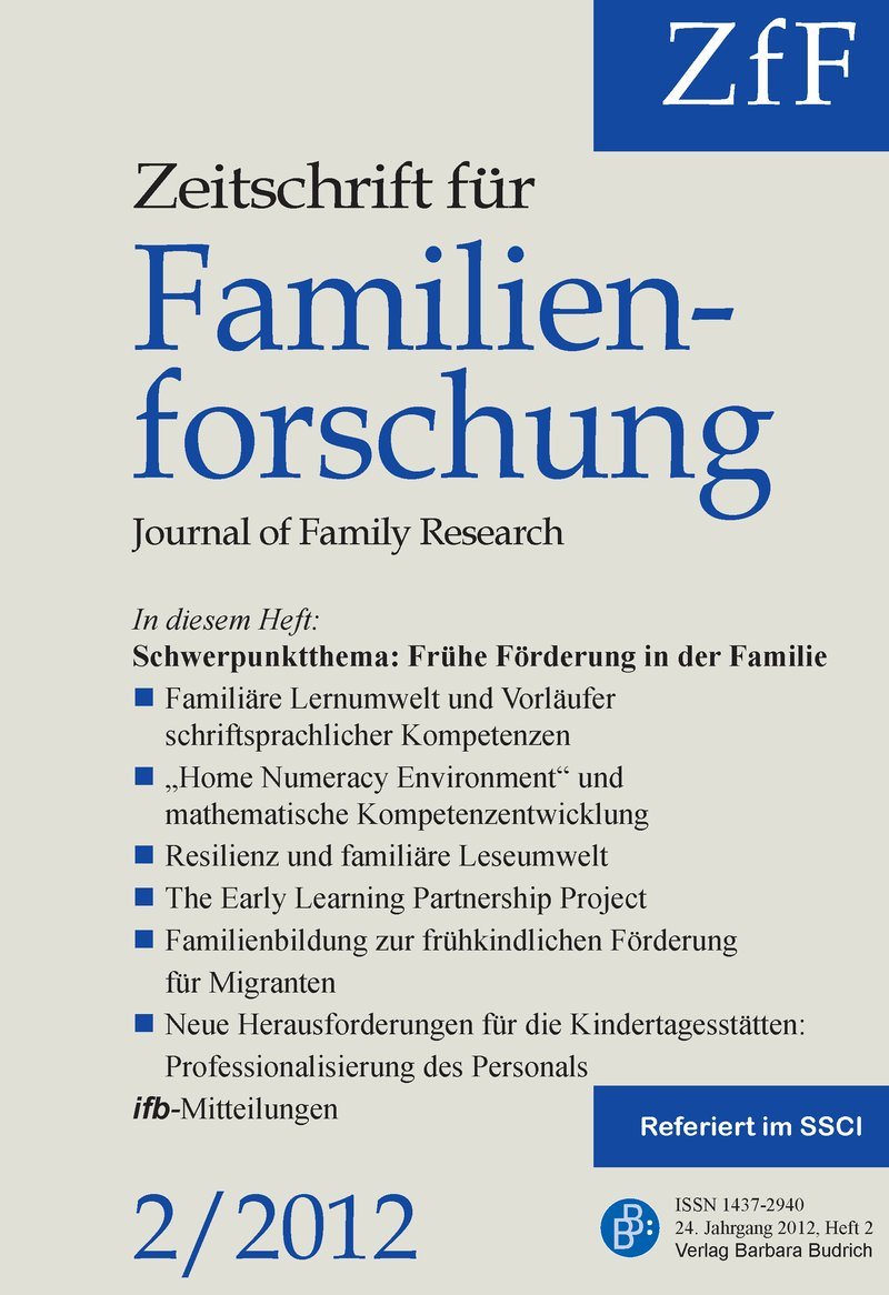 ZfF – Zeitschrift für Familienforschung | Journal of Family Research ...