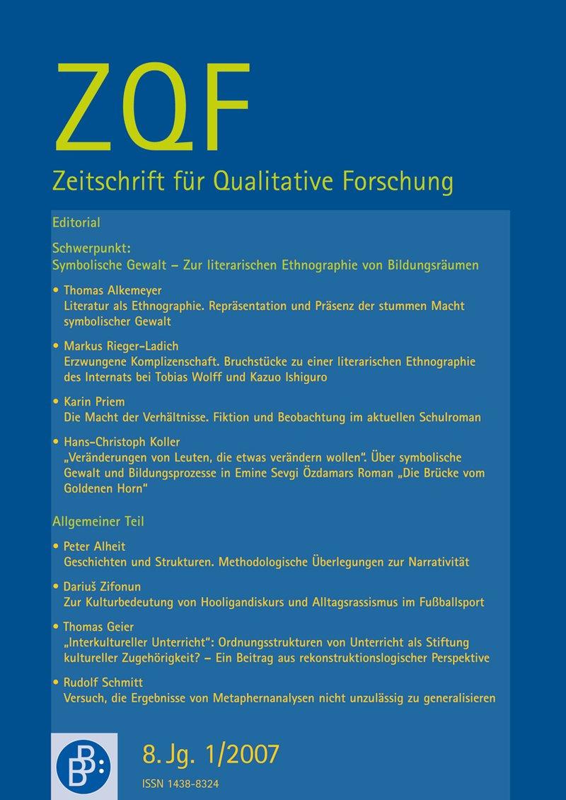ZQF – Zeitschrift für Qualitative Forschung 1-2007: Symbolische Gewalt