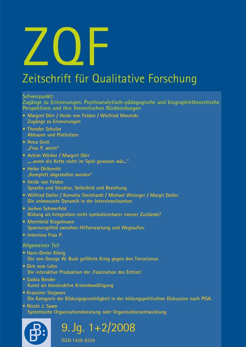 ZQF – Zeitschrift für Qualitative Forschung 1+2-2008: Zugänge zu Erinnerungen