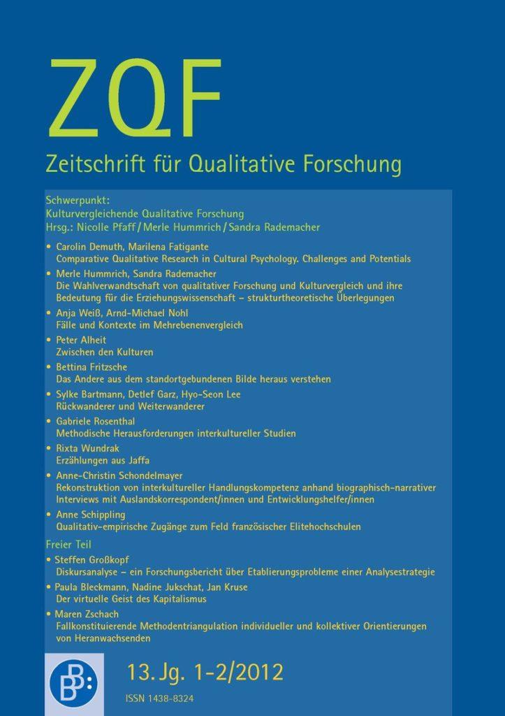 ZQF – Zeitschrift für Qualitative Forschung 1+2-2012: Kulturvergleichende Qualitative Forschung