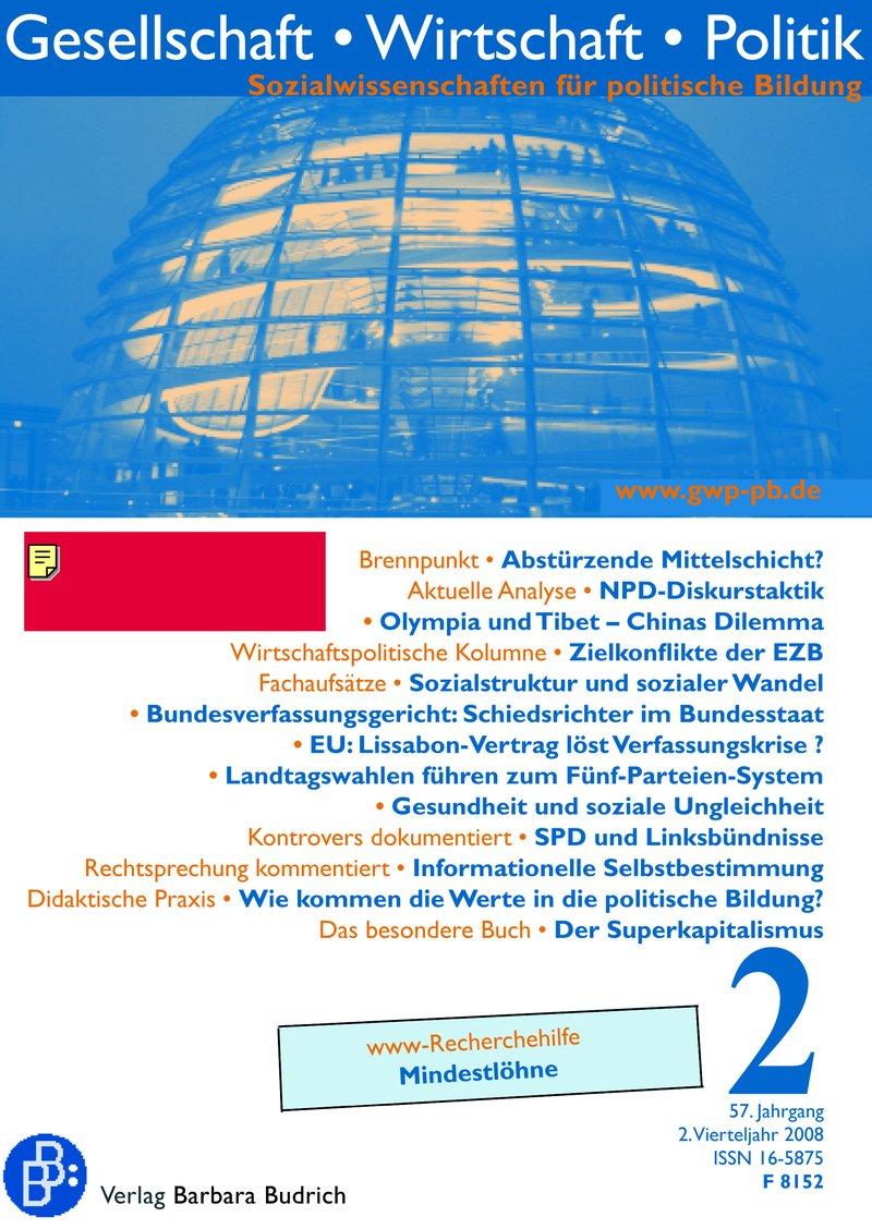 GWP – Gesellschaft. Wirtschaft. Politik 2-2008: Freie Beiträge