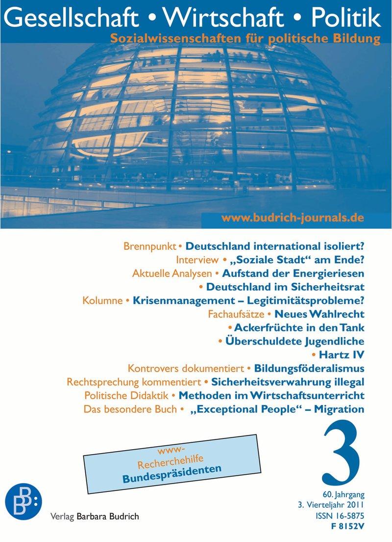 GWP – Gesellschaft. Wirtschaft. Politik 3-2011: Freie Beiträge