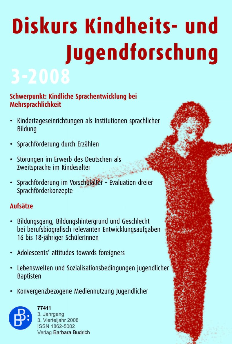 Diskurs Kindheits- und Jugendforschung / Discourse. Journal of Childhood and Adolescence Research 3-2008: Sprachentwicklung in der Kindheit
