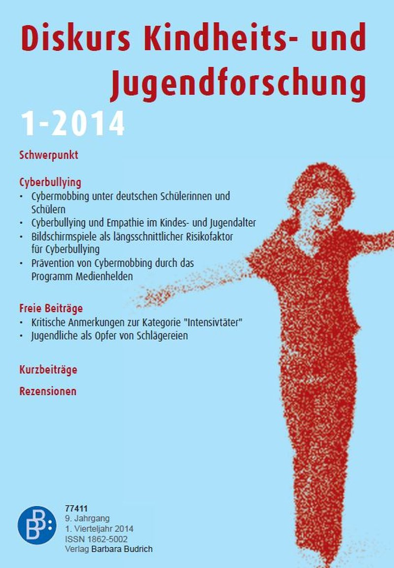 Diskurs Kindheits- und Jugendforschung / Discourse. Journal of Childhood and Adolescence Research 1-2014: Cyberbullying