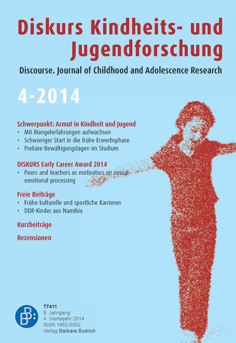 Diskurs Kindheits- und Jugendforschung / Discourse. Journal of Childhood and Adolescence Research 2-2014: Armut in Kindheit und Jugend