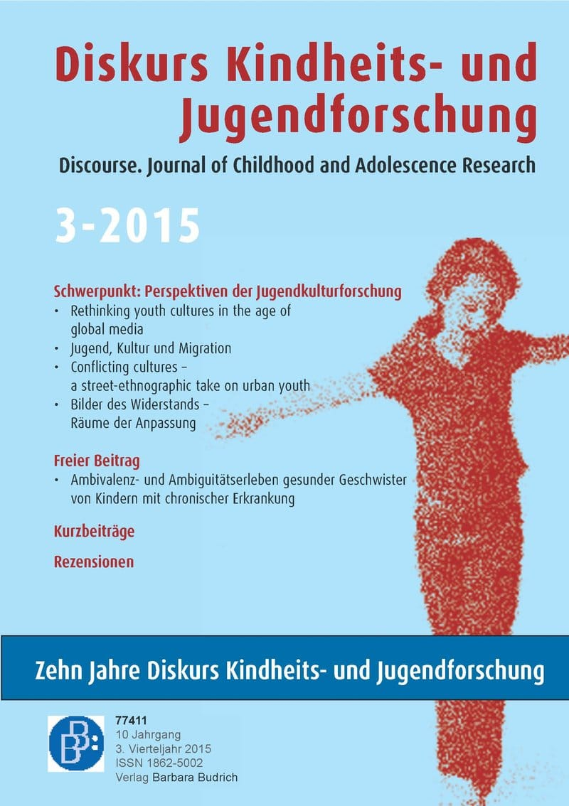Diskurs Kindheits- und Jugendforschung / Discourse. Journal of Childhood and Adolescence Research 3-2015: Perspektiven der Jugendkulturforschung