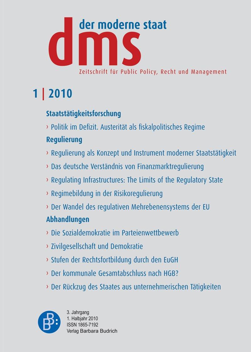 dms – der moderne staat – Zeitschrift für Public Policy, Recht und Management 1-2010: Regulierung