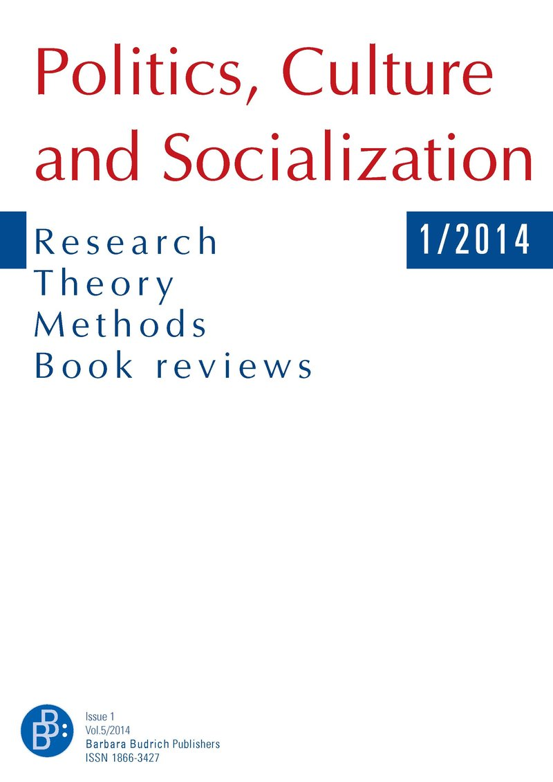 PCS – Politics, Culture and Socialization 1-2014: Political Socialization and Education in China