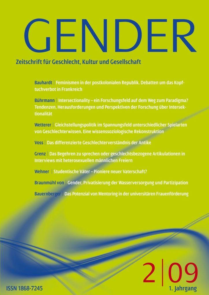 GENDER – Zeitschrift für Geschlecht, Kultur und Gesellschaft 2-2009: Offenes Heft