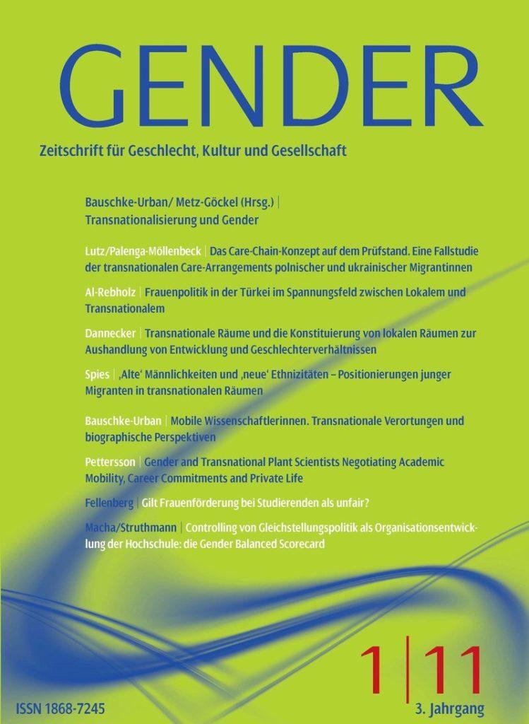 GENDER – Zeitschrift für Geschlecht, Kultur und Gesellschaft 1-2011: Transnationalisierung und Gender