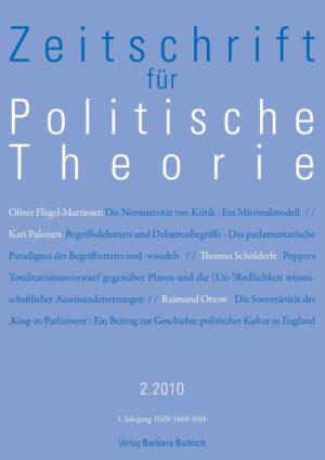 ZPTh – Zeitschrift für Politische Theorie 2-2010: Freie Beiträge