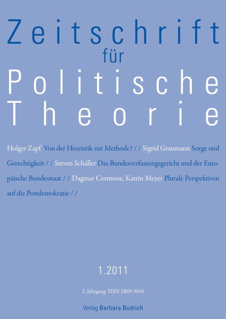 ZPTh – Zeitschrift für Politische Theorie 1-2011: Freie Beiträge