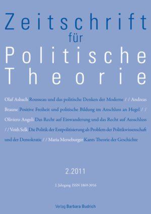 ZPTh – Zeitschrift für Politische Theorie 2-2011: Freie Beiträge