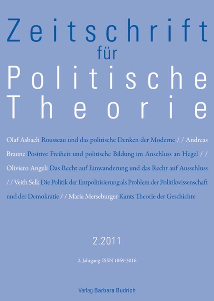 ZPTh – Zeitschrift für Politische Theorie, Heft 2-2011