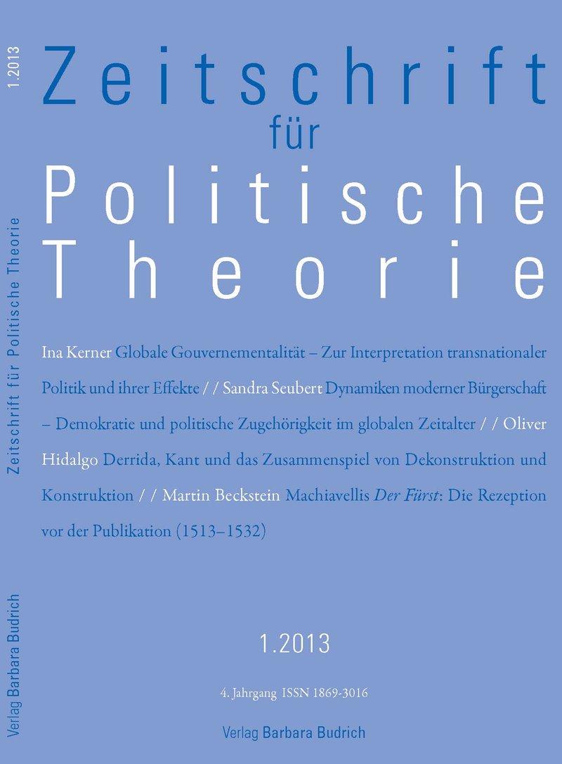 ZPTh – Zeitschrift für Politische Theorie 1-2013: Freie Beiträge