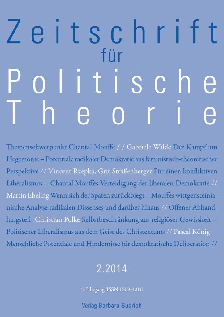 ZPTh – Zeitschrift für Politische Theorie, Heft 2-2014