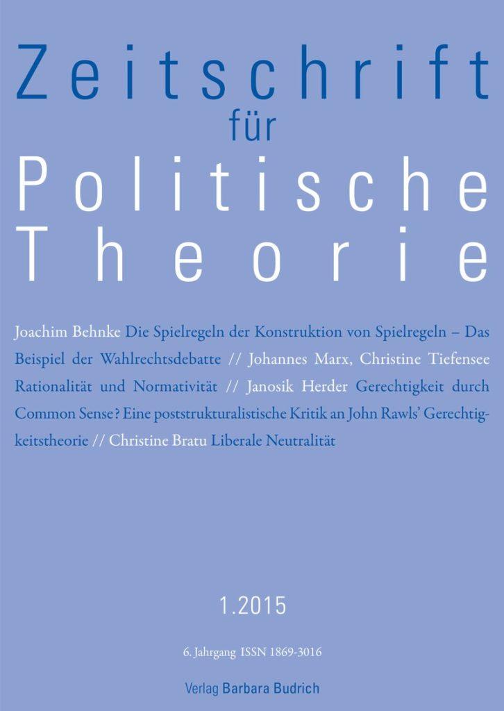 ZPTh – Zeitschrift für Politische Theorie 1-2015: Freie Beiträge