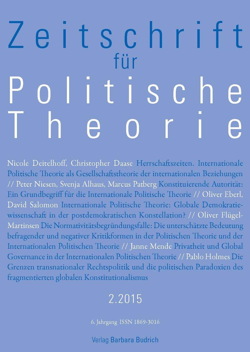 ZPTh – Zeitschrift für Politische Theorie 2-2015: Freie Beiträge