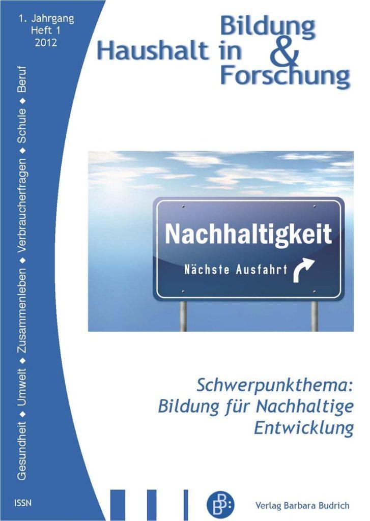 HiBiFo – Haushalt in Bildung & Forschung 1-2012: Bildung für Nachhaltige Entwicklung