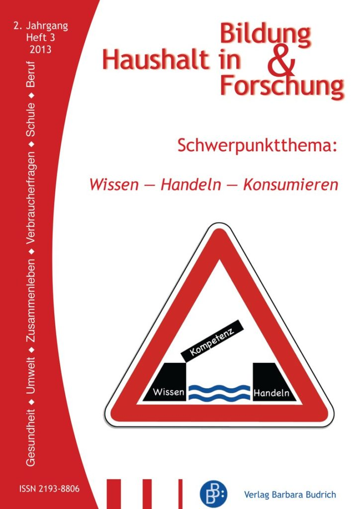 HiBiFo – Haushalt in Bildung & Forschung 3-2013: Wissen – Handeln – Konsumieren