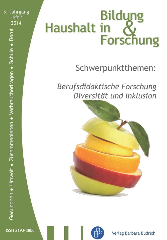 HiBiFo – Haushalt in Bildung & Forschung 1-2014: Berufsdidaktische Forschung Diversität und Inklusion