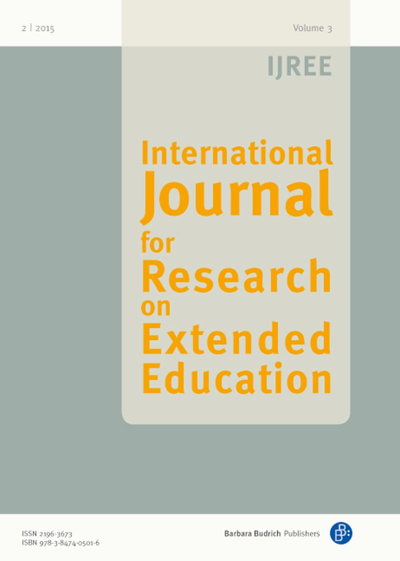 IJREE – International Journal for Research on Extended Education 2-2015: Blurring Educational Boundaries to Visualise Young People's Agency in Learning Practices