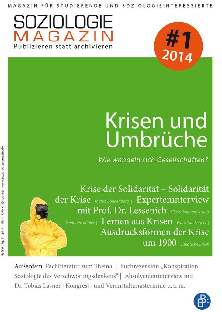 Soziologiemagazin 1-2014: Krisen und Umbrüche. Wie wandeln sich Gesellschaften?