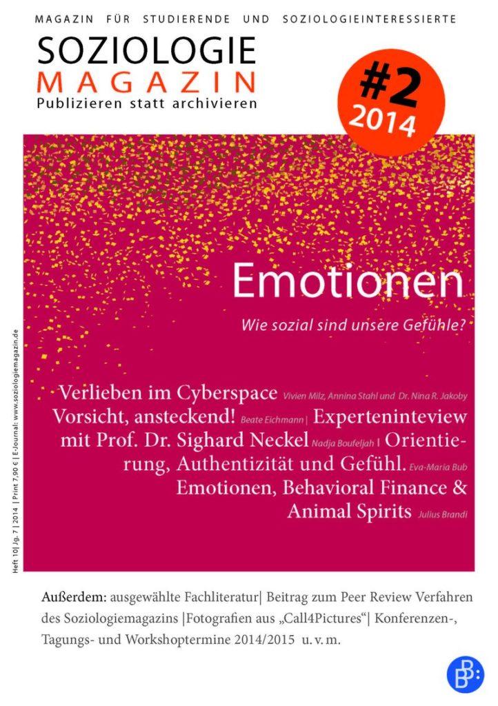 Soziologiemagazin 2-2014: Emotionen. Wie sozial sind unsere Gefühle?