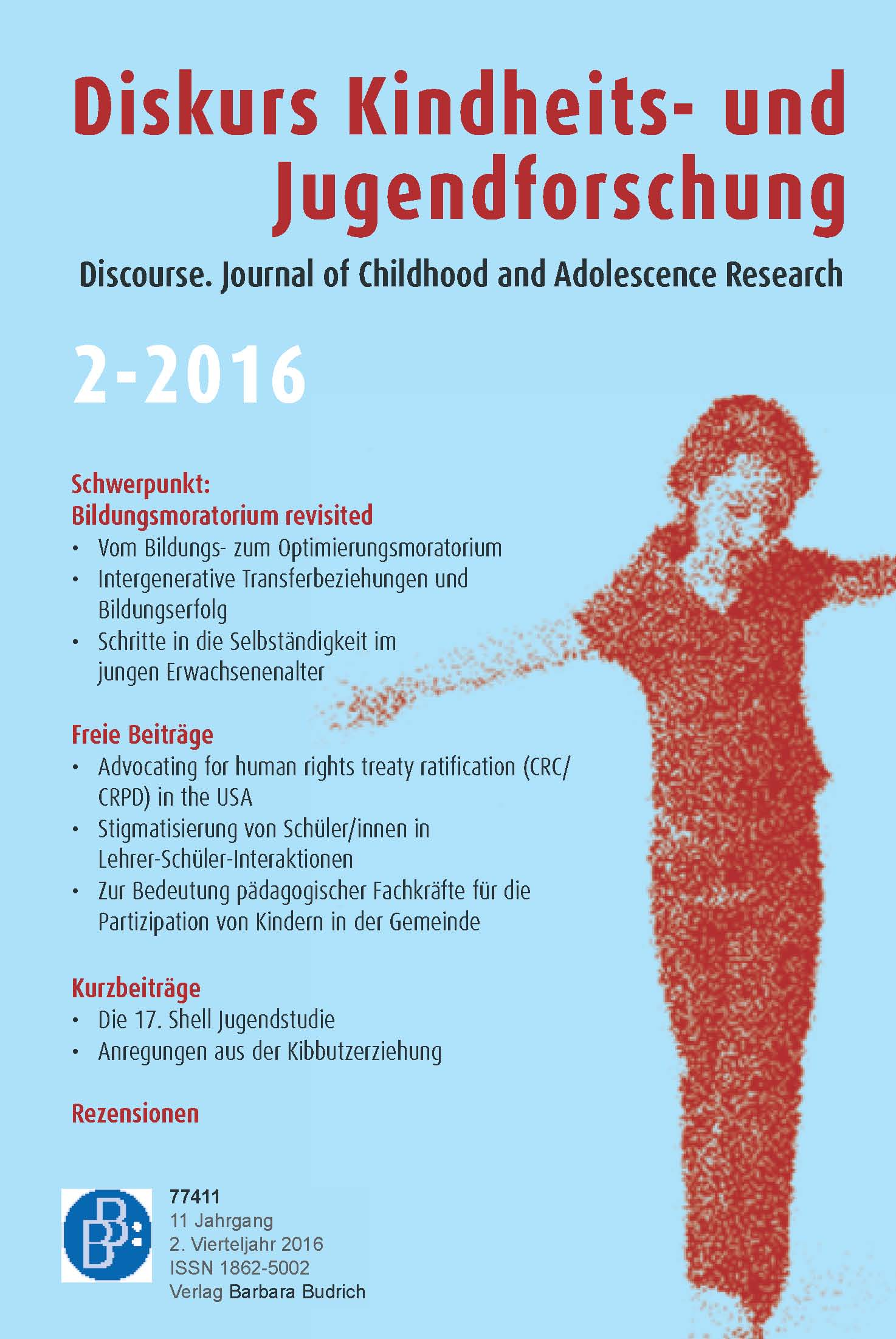 Diskurs Kindheits- und Jugendforschung / Discourse. Journal of Childhood and Adolescence Research 2-2016: Bildungsmoratorium revisited