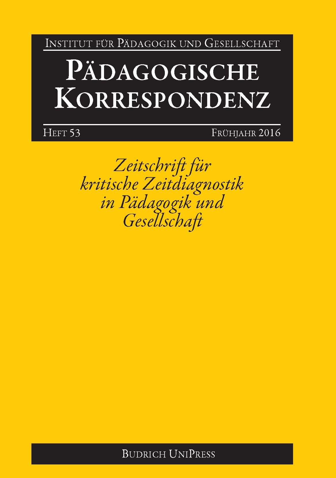 Pädagogische Korrespondenz 53 (1-2016): Freie Beiträge