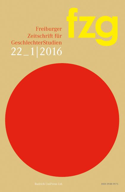FZG – Freiburger Zeitschrift für GeschlechterStudien 1-2016: Freie Beiträge
