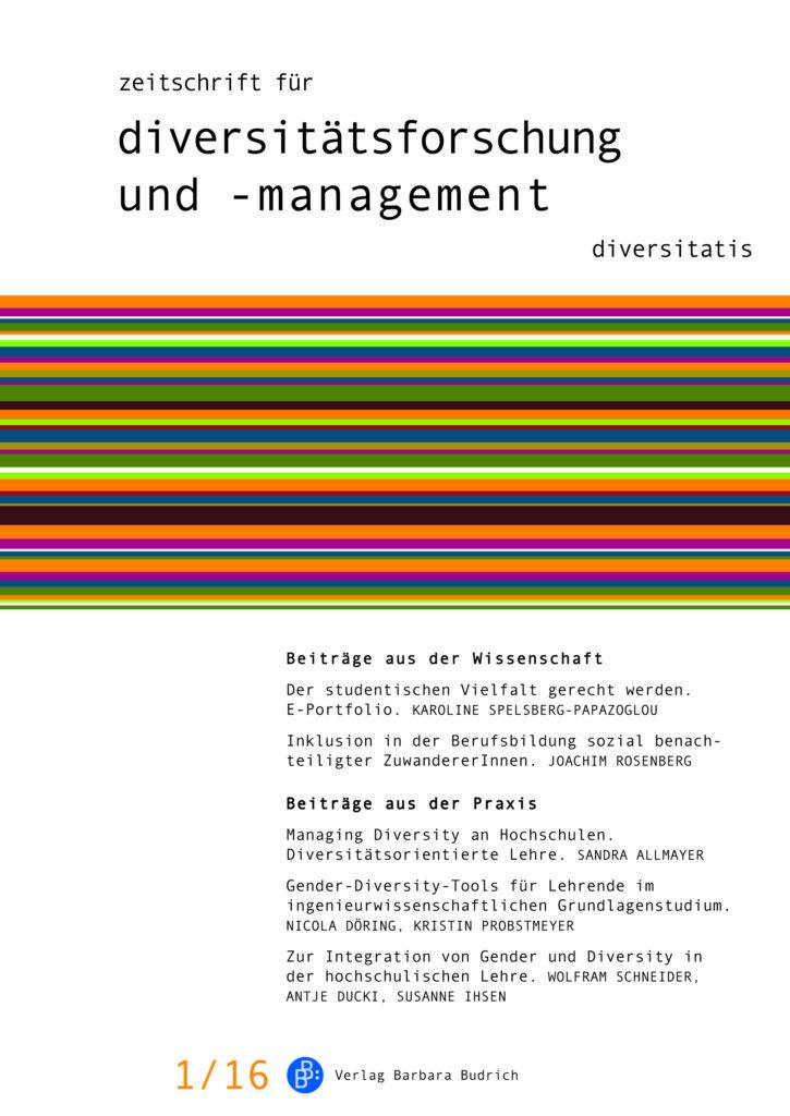 ZDfm – Zeitschrift für Diversitätsforschung und -management 1-2016: Diversity Education