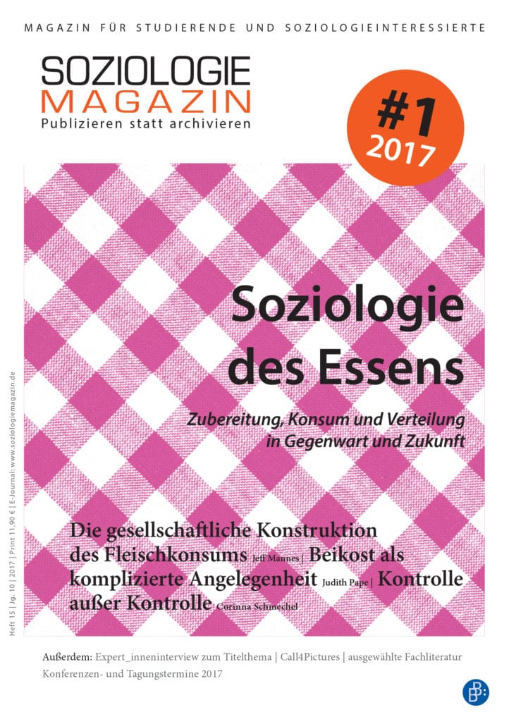Soziologiemagazin 1-2017: Soziologie des Essens