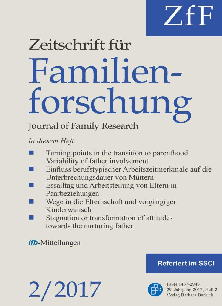 ZfF – Zeitschrift für Familienforschung / Journal of Family Research 2-2017