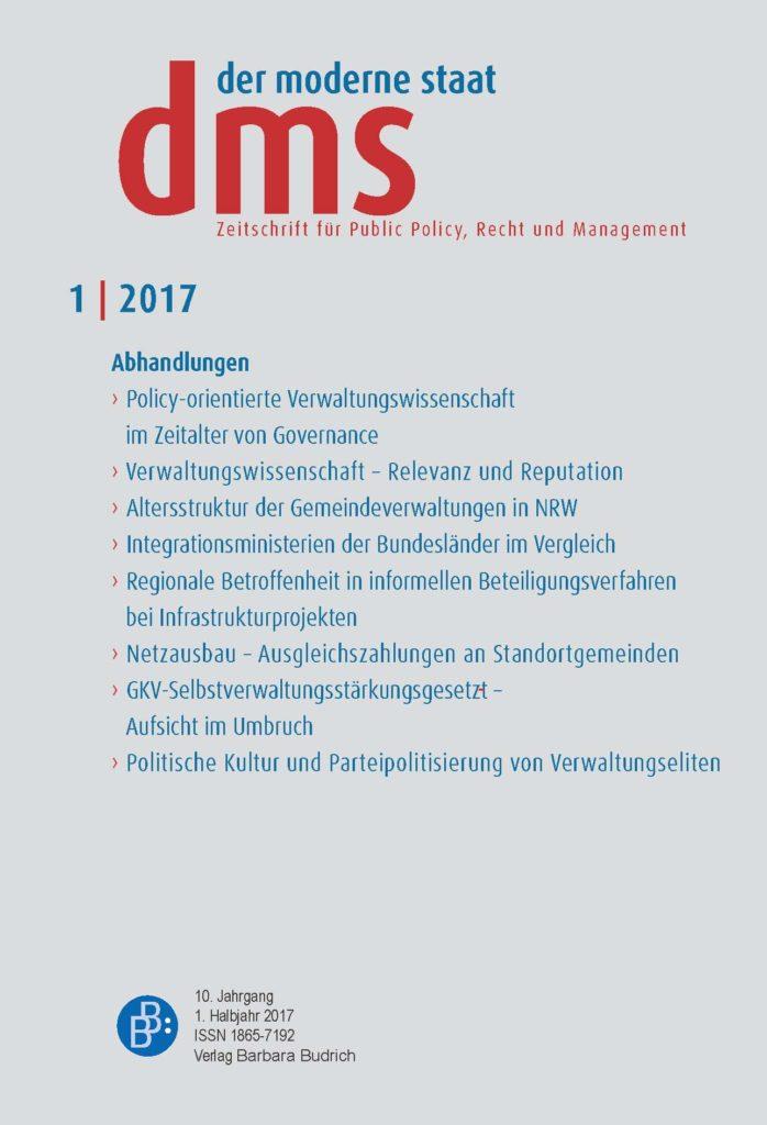 dms – der moderne staat – Zeitschrift für Public Policy, Recht und Management 1-2017: Freie Beiträge