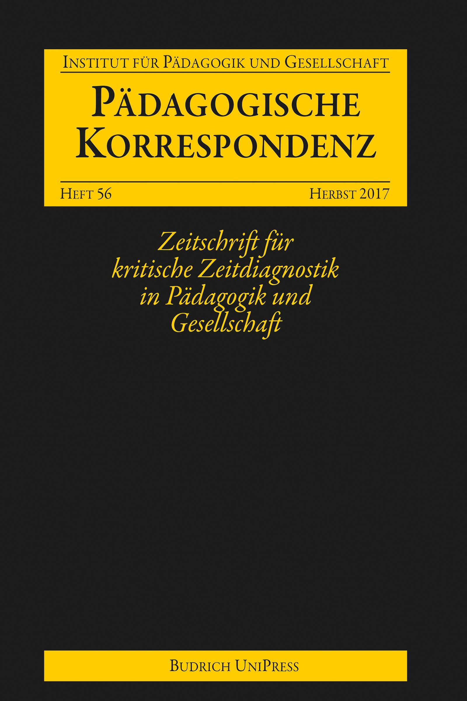 Pädagogische Korrespondenz 56 (2-2017)