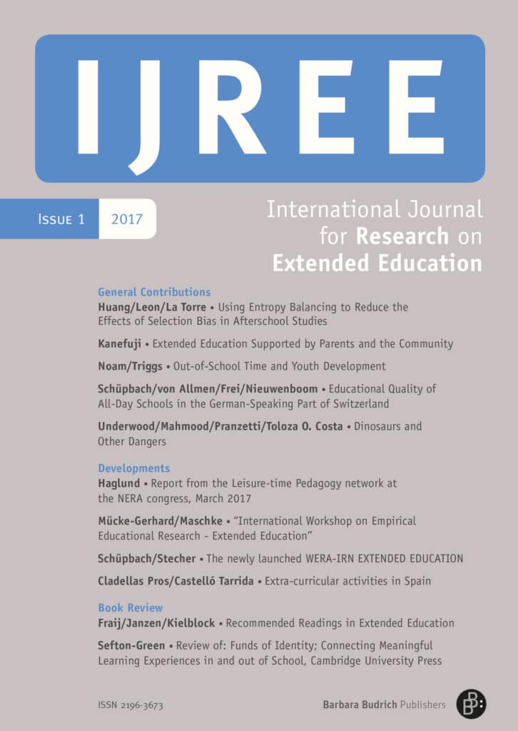 IJREE – International Journal for Research on Extended Education 1-2017: Free Contributions