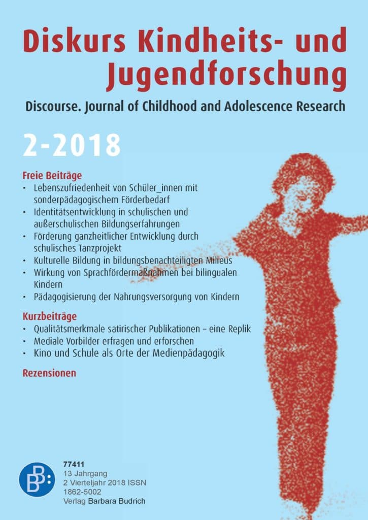 Diskurs Kindheits- und Jugendforschung / Discourse. Journal of Childhood and Adolescence Research 2-2018: Freie Beiträge