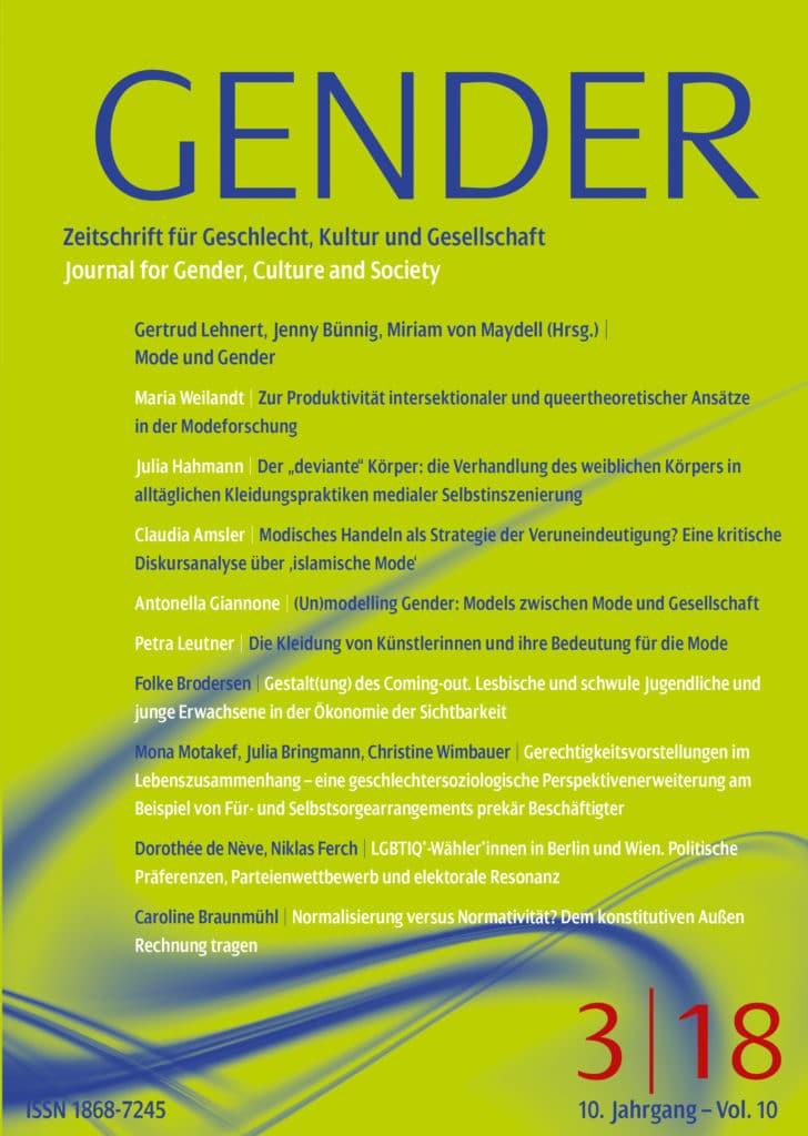 GENDER – Zeitschrift für Geschlecht, Kultur und Gesellschaft 3-2018: Mode und Gender