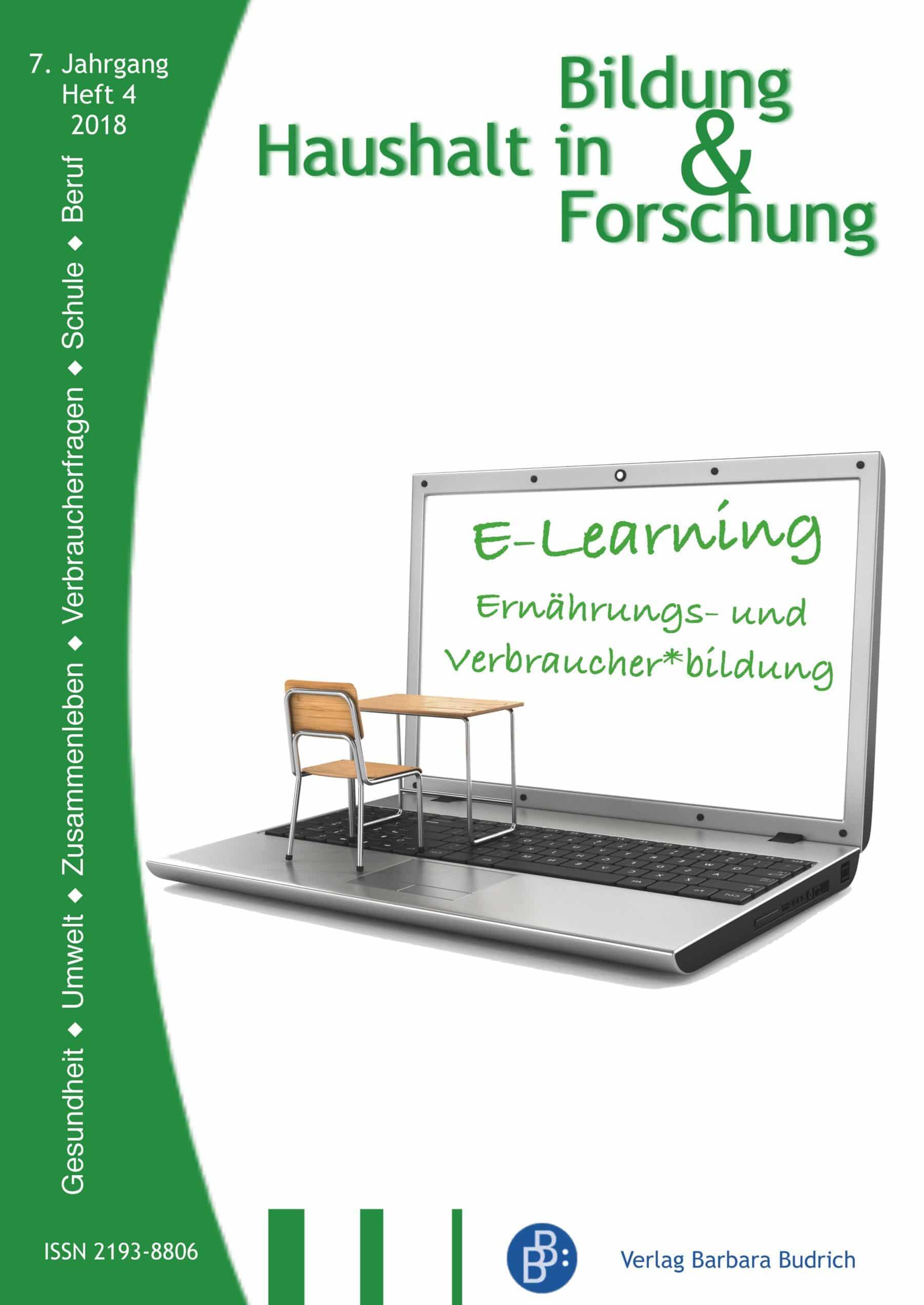 HiBiFo – Haushalt in Bildung & Forschung 4-2018: E-Learning. Ernährungs- und Verbraucher*bildung
