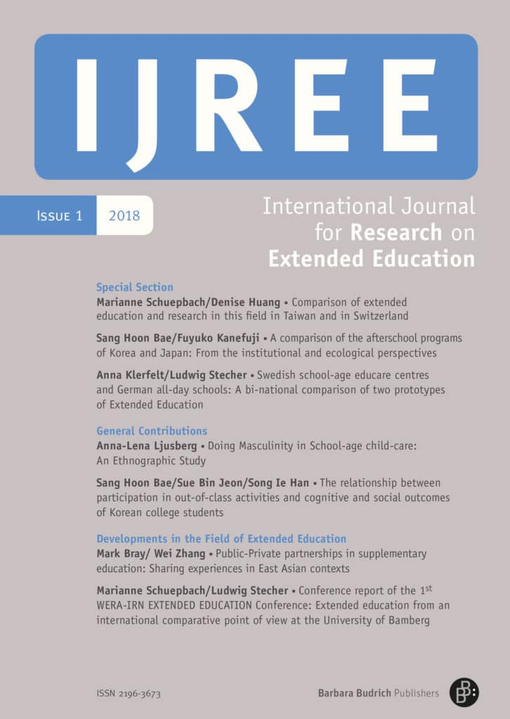 IJREE – International Journal for Research on Extended Education 1-2018: Free Contributions