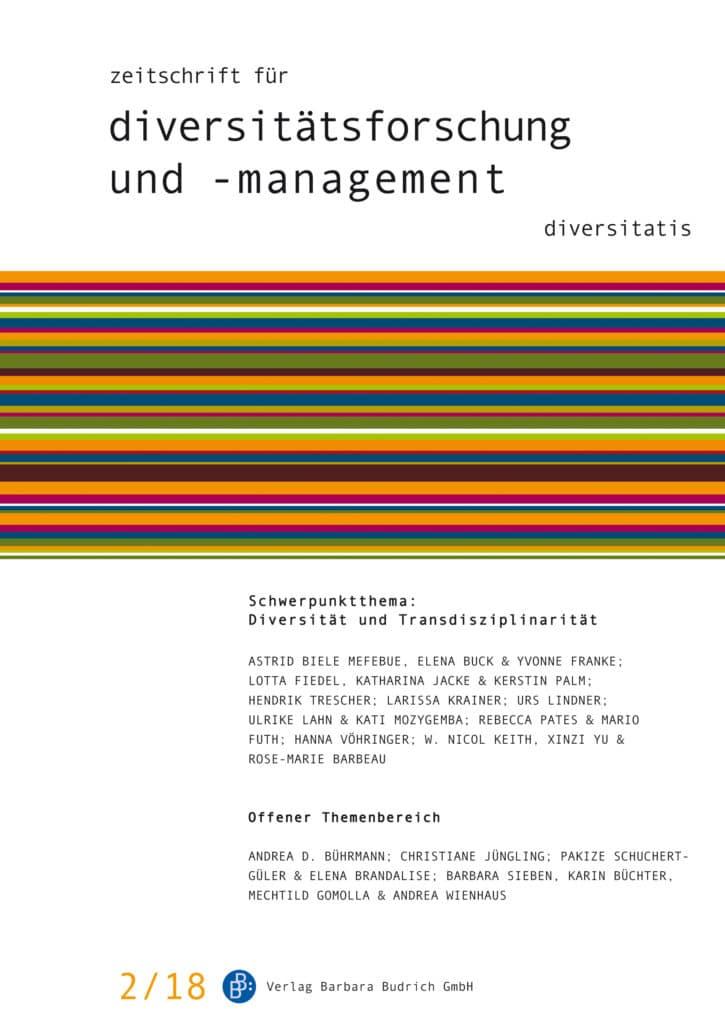 ZDfm – Zeitschrift für Diversitätsforschung und -management 2-2018: Diversität und Transdisziplinarität