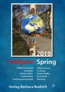 Verlag Barbara Budrich: Vorschau Frühjahr 2019