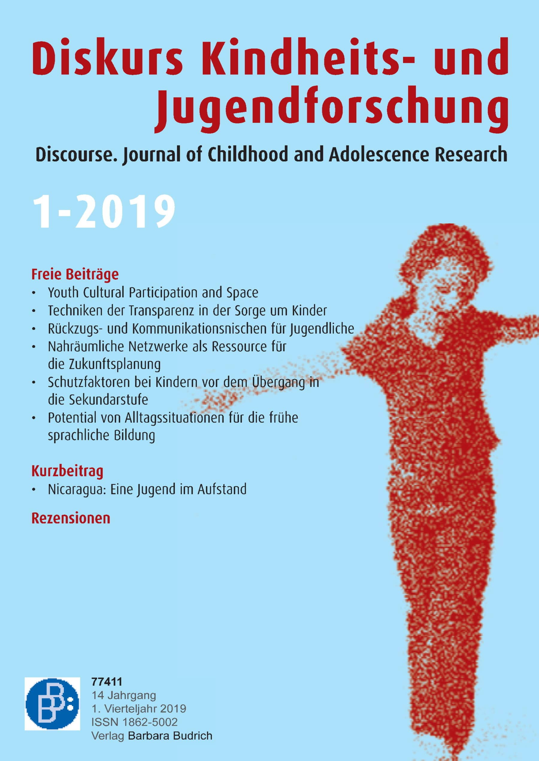 Diskurs Kindheits- und Jugendforschung / Discourse. Journal of Childhood and Adolescence Research 1-2019: Freie Beiträge